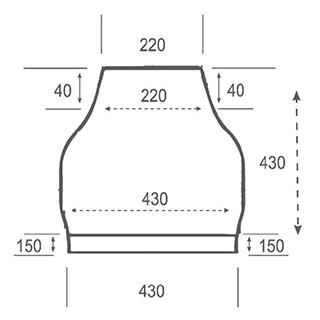 Цоколь стеклопластиковый ФМ-460