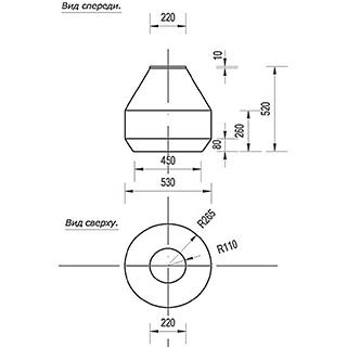 Цоколь стеклопластиковый Ц - 600 А220