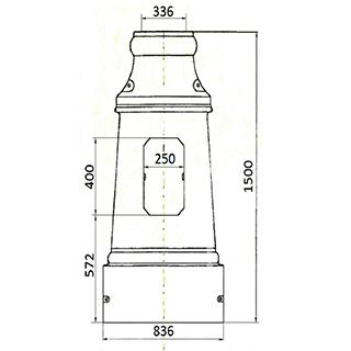 Цоколь чугунный Ц-7 б/о