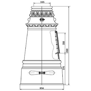 Цоколь чугунный Ц-7 р (расширенный низ)