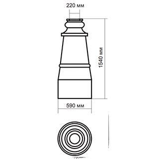 Цоколь стеклопластиковый средний Ц-1500 А220