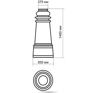 Цоколь стеклопластиковый средний Ц-1500 А275