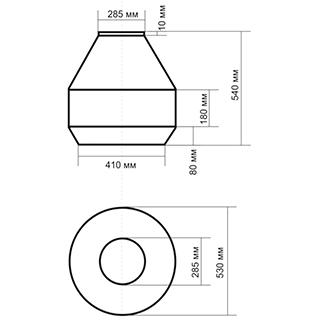 Цоколь cтеклопластиковый Ц600-А275
