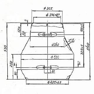 Цоколь стеклопластиковый малый ЦТ276