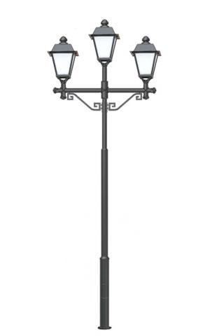 Чугунный парковый фонарь