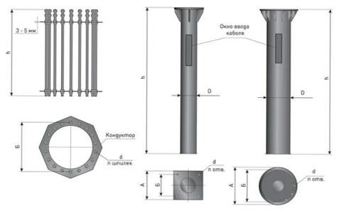 Фундамент металлический (опор МС-ф)