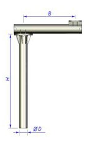 Закладной фундамент металлический выносной под опору