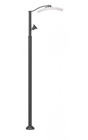 Стальной уличный фонарь 2.Ц08.1.90.V44/1