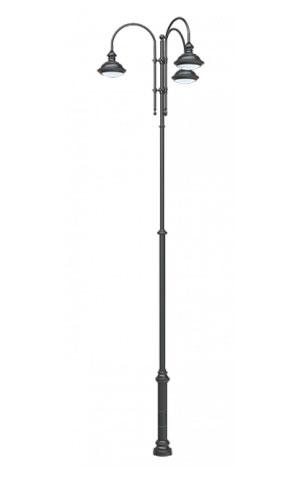 Стальной уличный фонарь 2.Ц14.1.49.V18-05/3