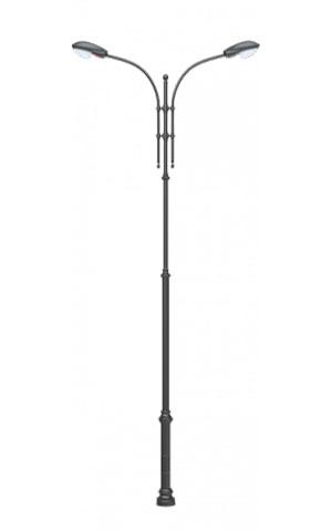 Стальной уличный фонарь 2.Ц14.2.O60.V44/2