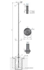 Опора освещения силовая фланцевая граненая тип СФГ, ОГС